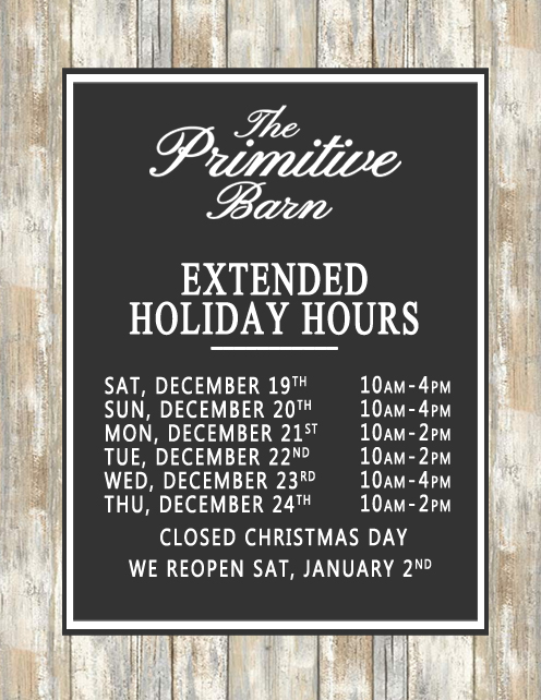 2020 extended holiday hours